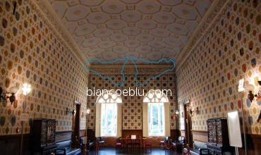 in donnafugata castle the room of wealthy sicilia families