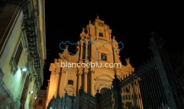 cathedra in ragusa ibla from montalbano tv series