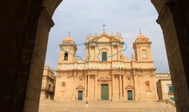 the cathedra of saint nicolo in noto rebuilt after the eathquake