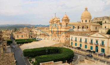 view of Noto baroque nicolo cathedral