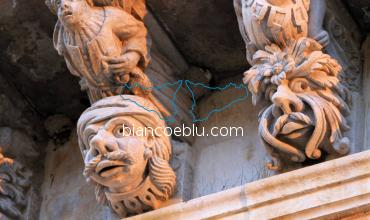 in ragusa ibla the balconies were decorated with figures anthropomorphic