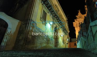 in ragusa ibla a baroque building from wealthy family